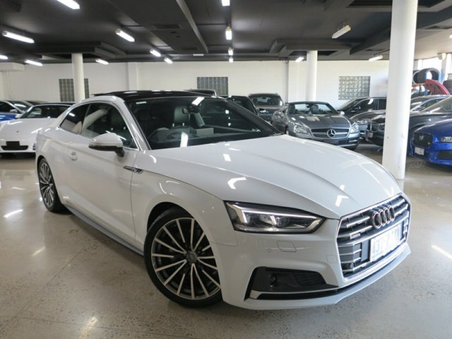 Used Audi A5 F5 MY18 Sport S Tronic Quattro, 2017 Audi A5 F5 MY18 Sport S Tronic Quattro White 7 Speed Sports Automatic Dual Clutch Coupe