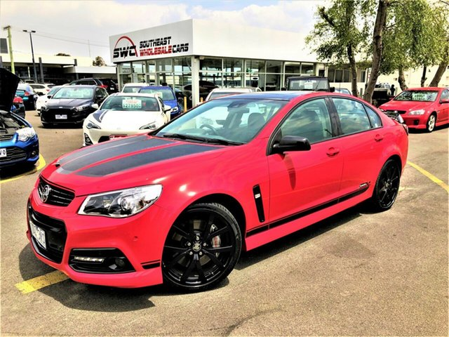 Used Holden Commodore VF MY15 SS V Craig Lowndes, 2014 Holden Commodore VF MY15 SS V Craig Lowndes Red 6 Speed Sports Automatic Sedan