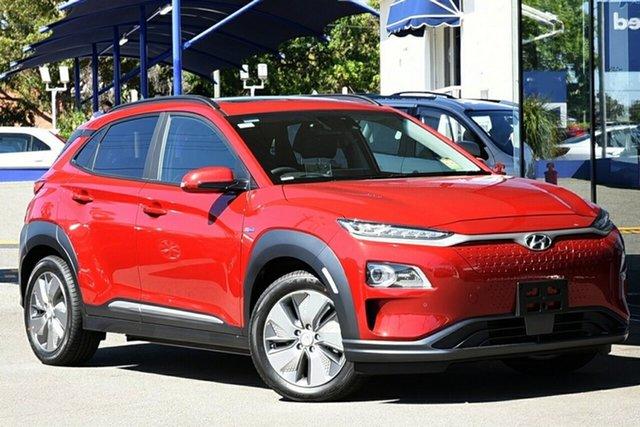New Hyundai Kona OSEV.2 MY20 electric Highlander, 2020 Hyundai Kona OSEV.2 MY20 electric Highlander Pulse Red 1 Speed Reduction Gear Wagon