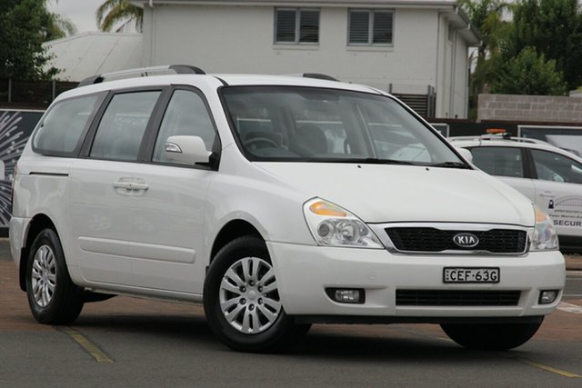Used Kia Grand Carnival VQ MY11 SI, 2010 Kia Grand Carnival VQ MY11 SI Clear White 6 Speed Sports Automatic Wagon