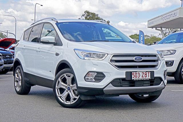 Used Ford Escape ZG 2018.00MY Titanium PwrShift AWD, 2018 Ford Escape ZG 2018.00MY Titanium PwrShift AWD Frozen White 6 Speed