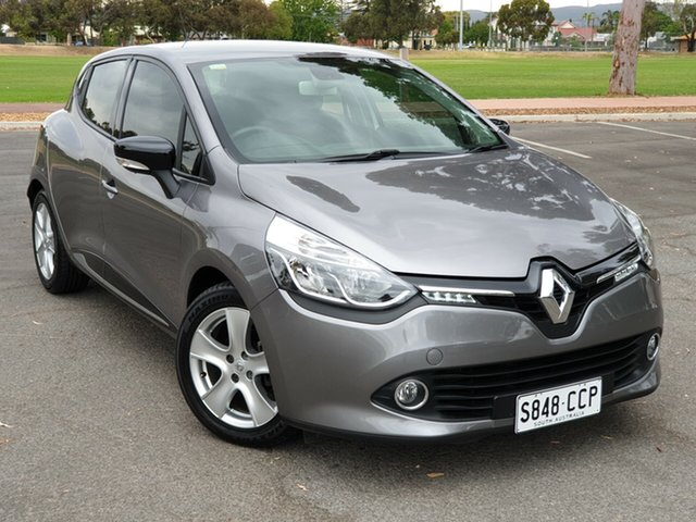 Used Renault Clio IV B98 Expression EDC, 2014 Renault Clio IV B98 Expression EDC Oyster Grey (kng)/gr 6 Speed Sports Automatic Dual Clutch