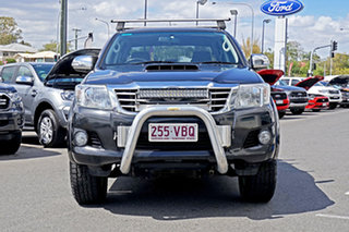 2013 Toyota Hilux KUN26R MY12 SR5 Double Cab Black 5 Speed Manual Utility.