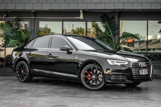 2016 Audi A4 B9 8W MY16 Sport S Tronic Black 7 Speed Sports Automatic Dual Clutch Sedan.