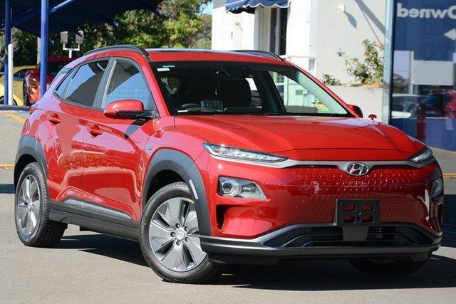 New Hyundai Kona OS.3 MY19 electric Highlander, 2019 Hyundai Kona OS.3 MY19 electric Highlander Pulse Red 1 Speed Reduction Gear Wagon