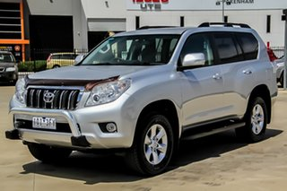 2012 Toyota Landcruiser Prado KDJ150R GXL Silver Pearl 5 Speed Sports Automatic Wagon.