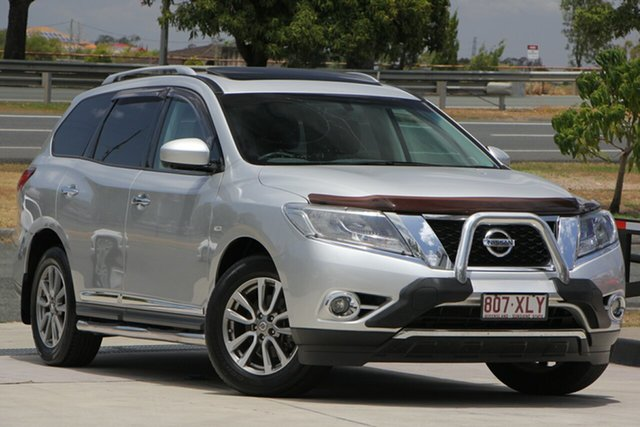 Used Nissan Pathfinder R52 MY15 ST-L X-tronic 4WD N-TREK, 2015 Nissan Pathfinder R52 MY15 ST-L X-tronic 4WD N-TREK Silver 1 Speed Constant Variable Wagon