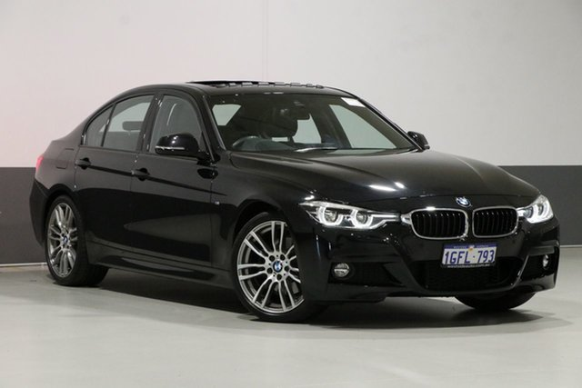 Used BMW 330i F30 LCI M Sport, 2017 BMW 330i F30 LCI M Sport Black 8 Speed Automatic Sedan