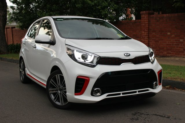 New Kia Picanto JA MY19 GT-Line, 2019 Kia Picanto JA MY19 GT-Line Clear White 4 Speed Automatic Hatchback
