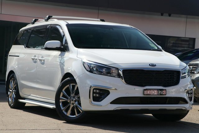 Used Kia Carnival YP PE MY19 Platinum, 2019 Kia Carnival YP PE MY19 Platinum Clear White 8 Speed Automatic Wagon