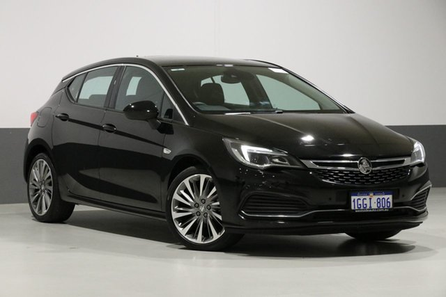 Used Holden Astra BK MY17 RS-V, 2017 Holden Astra BK MY17 RS-V Black 6 Speed Automatic Hatchback