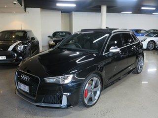 2016 Audi RS 3 8V MY16 Sportback S Tronic Quattro Mythos Black 7 Speed Sports Automatic Dual Clutch.