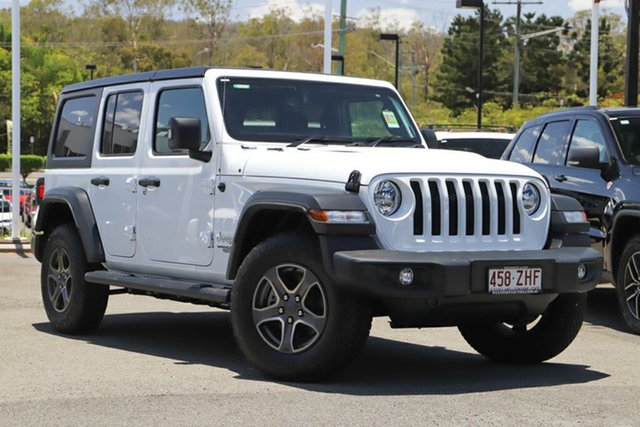 Used Jeep Wrangler JL MY19 Unlimited Sport S, 2019 Jeep Wrangler JL MY19 Unlimited Sport S Bright White 8 Speed Automatic Softtop
