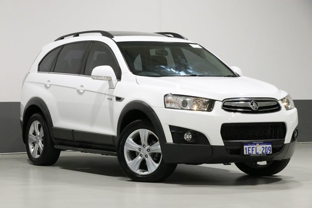 Used Holden Captiva CG MY13 7 CX (4x4), 2013 Holden Captiva CG MY13 7 CX (4x4) White 6 Speed Automatic Wagon