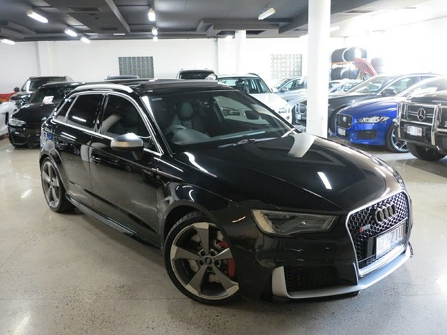 Used Audi RS 3 8V MY16 Sportback S Tronic Quattro, 2016 Audi RS 3 8V MY16 Sportback S Tronic Quattro Mythos Black 7 Speed Sports Automatic Dual Clutch