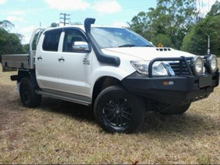 2012 Toyota Hilux KUN26R MY12 SR5 (4x4) Glacier White 5 Speed Manual Dual Cab Pick-up