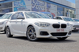 2016 BMW 1 Series F20 LCI M140i White 8 Speed Sports Automatic Hatchback.