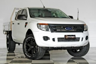 2014 Ford Ranger PX XL 2.2 Hi-Rider (4x2) White 6 Speed Automatic Crew Cab Pickup.