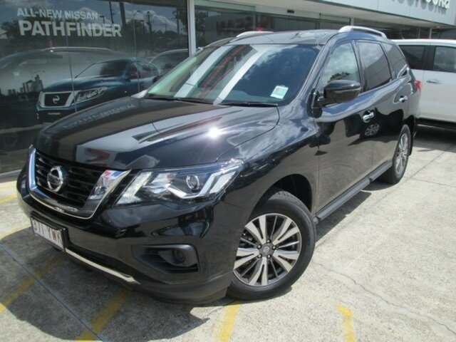 Demo Nissan Pathfinder R52 Series III MY19 ST X-tronic 2WD, 2018 Nissan Pathfinder R52 Series III MY19 ST X-tronic 2WD Diamond Black 1 Speed Constant Variable