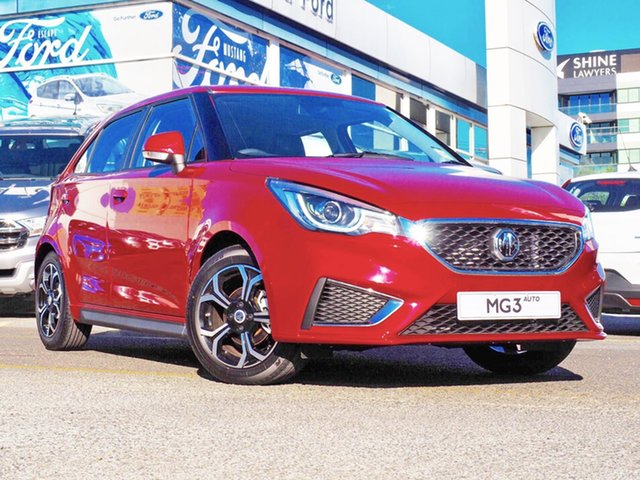 Demo MG MG3 SZP1 MY18 Excite, 2019 MG MG3 SZP1 MY18 Excite Red 4 Speed Automatic Hatchback