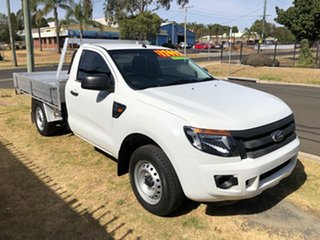 2012 Ford Ranger PX XL 2.2 (4x2) White 6 Speed Manual Cab Chassis.