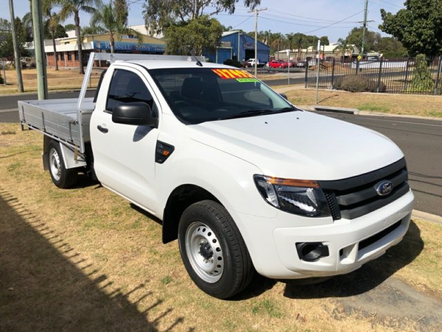 Used Ford Ranger PX XL 2.2 (4x2), 2012 Ford Ranger PX XL 2.2 (4x2) White 6 Speed Manual Cab Chassis