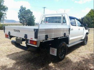 2012 Toyota Hilux KUN26R MY12 SR5 (4x4) Glacier White 5 Speed Manual Dual Cab Pick-up.