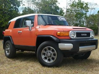 2013 Toyota FJ Cruiser GSJ15R MY14 Orange Clay 5 Speed Automatic Wagon.