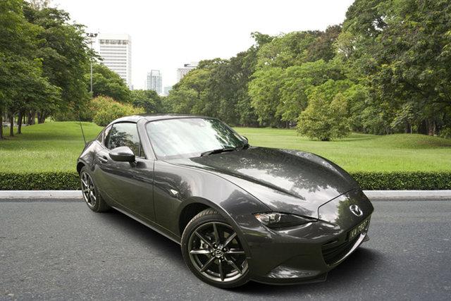 Demo Mazda MX-5 ND GT RF SKYACTIV-MT, 2019 Mazda MX-5 ND GT RF SKYACTIV-MT Machine Grey 6 Speed Manual Targa