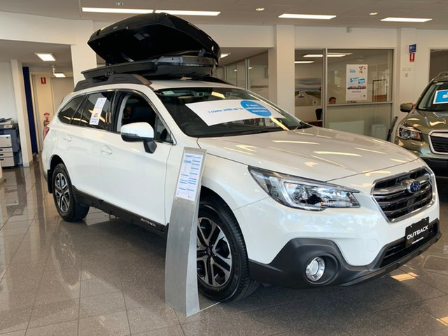 New Subaru Outback B6A MY19 2.0D CVT AWD, 2019 Subaru Outback B6A MY19 2.0D CVT AWD Crystal White Pearl 7 Speed Constant Variable Wagon