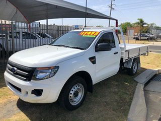2012 Ford Ranger PX XL 2.2 (4x2) White 6 Speed Manual Cab Chassis