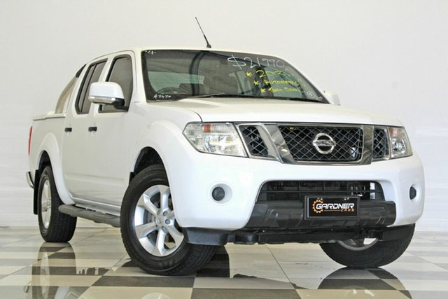 Used Nissan Navara D40 MY12 ST (4x2), 2013 Nissan Navara D40 MY12 ST (4x2) White 5 Speed Automatic Dual Cab Pick-up