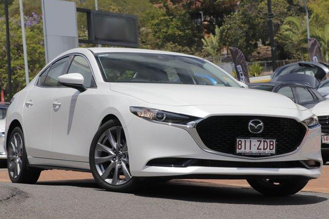 Demo Mazda 3 BP2S7A G20 SKYACTIV-Drive Touring, 2019 Mazda 3 BP2S7A G20 SKYACTIV-Drive Touring Snowflake White 6 Speed Sports Automatic Sedan