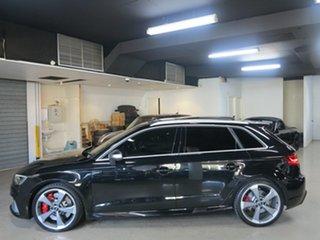 2016 Audi RS 3 8V MY16 Sportback S Tronic Quattro Mythos Black 7 Speed Sports Automatic Dual Clutch