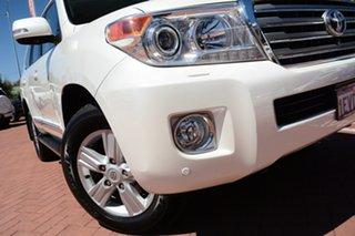 2015 Toyota Landcruiser VDJ200R MY13 Sahara White 6 Speed Sports Automatic Wagon.