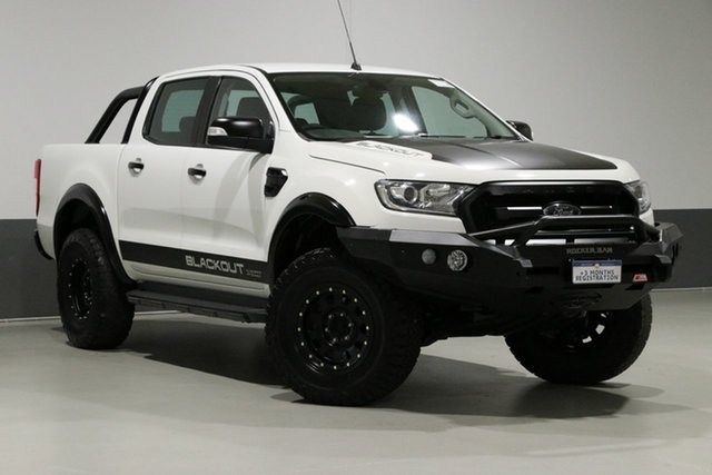 Used Ford Ranger PX MkII XLT 3.2 (4x4), 2015 Ford Ranger PX MkII XLT 3.2 (4x4) White 6 Speed Manual Dual Cab Utility
