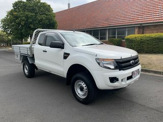 2014 Ford Ranger PX XL White 6 Speed Automatic Spacecab.