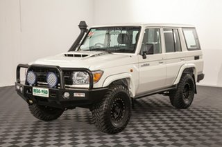 2018 Toyota Landcruiser VDJ76R Workmate French Vanilla 5 speed Manual Wagon.