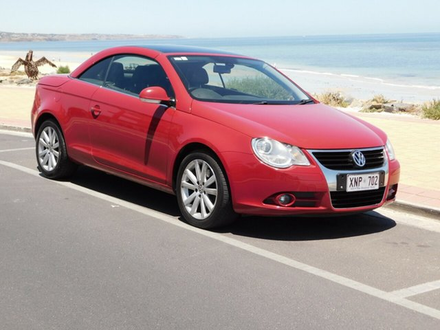 Used Volkswagen EOS 1F FSI DSG, 2007 Volkswagen EOS 1F FSI DSG Red 6 Speed Sports Automatic Dual Clutch Convertible