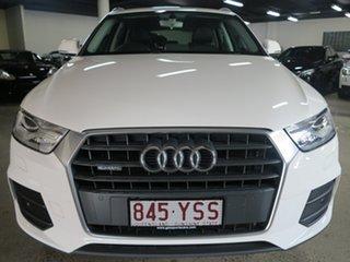 2016 Audi Q3 8U MY17 TDI S Tronic Quattro White 7 Speed Sports Automatic Dual Clutch Wagon.