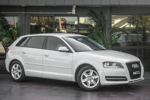 Used Audi A3 8P MY12 (N1) Attraction Sportback S Tronic, 2012 Audi A3 8P MY12 (N1) Attraction Sportback S Tronic White 7 Speed Sports Automatic Dual Clutch