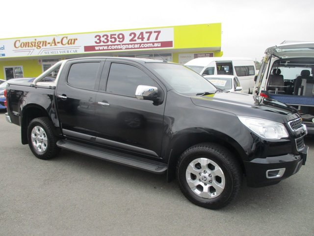 Used Holden Colorado RG MY14 LTZ Crew Cab, 2014 Holden Colorado RG MY14 LTZ Crew Cab Black 6 Speed Sports Automatic Utility