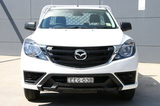 2019 Mazda BT-50 UR0YE1 XT 4x2 Cool White 6 Speed Manual Cab Chassis