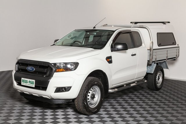 Used Ford Ranger PX MkII XL Super Cab 4x2 Hi-Rider, 2016 Ford Ranger PX MkII XL Super Cab 4x2 Hi-Rider Cool White 6 speed Automatic Cab Chassis