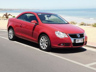 2007 Volkswagen EOS 1F FSI DSG Red 6 Speed Sports Automatic Dual Clutch Convertible.