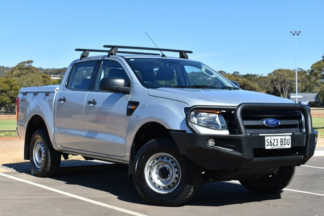 Used Ford Ranger PX XL Double Cab, 2014 Ford Ranger PX XL Double Cab Highlight Silver 6 Speed Manual Utility