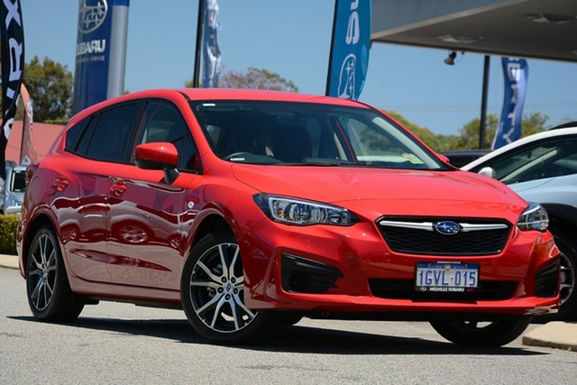 Demo Subaru Impreza G5 MY19 2.0i CVT AWD, 2019 Subaru Impreza G5 MY19 2.0i CVT AWD Pure Red 7 Speed Constant Variable Hatchback