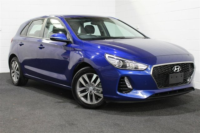 Used Hyundai i30 PD MY18 Active, 2018 Hyundai i30 PD MY18 Active Intense Blue 6 Speed Sports Automatic Hatchback