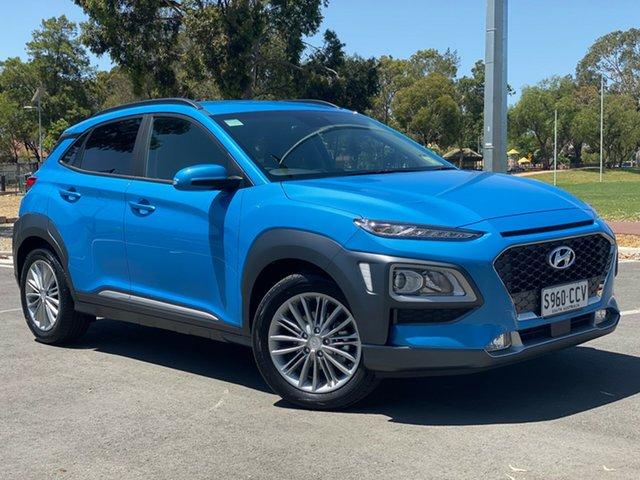 Demo Hyundai Kona OS.3 MY20 Elite 2WD, 2019 Hyundai Kona OS.3 MY20 Elite 2WD Blue Lagoon 6 Speed Sports Automatic Wagon