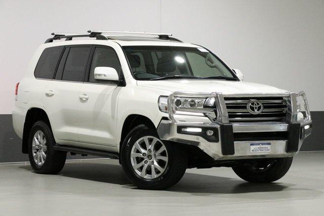 Used Toyota Landcruiser VDJ200R MY16 VX (4x4), 2018 Toyota Landcruiser VDJ200R MY16 VX (4x4) Crystal Pearl 6 Speed Automatic Wagon